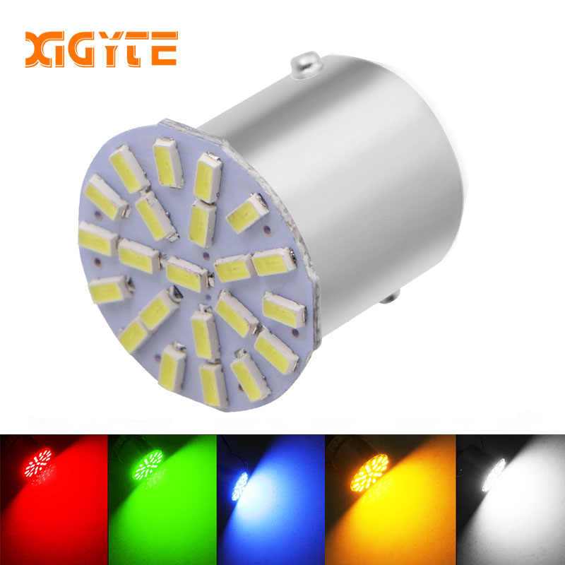 Hot Sale 12V 1156 1157 22SMD P21W BA15S BA15D LED Bulb Car Auto Front Lights Brake Lights Turn Lights Parking Lamp Bulbs