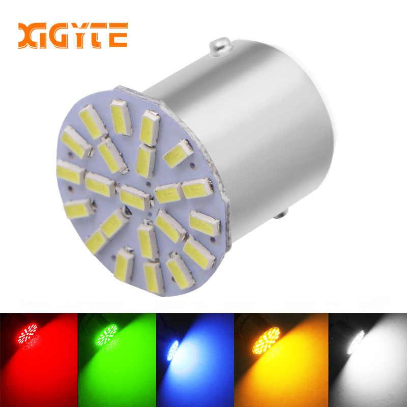 מכירה לוהטת 12 v 1156 1157 22SMD P21W BA15S BA15D LED הנורה רכב אוטומטי קדמי אורות בלם הפעילו אורות חניה מנורת נורות