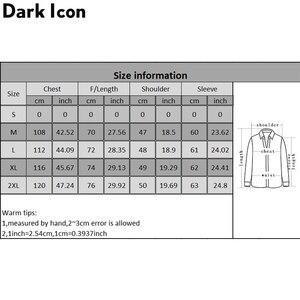 Image 5 - Dark Icon Interesting Print Plaid Men's Shirts 2019 Autumn Oversize Long Sleeved Checkered Shirts Streetwear Hipster Shirts