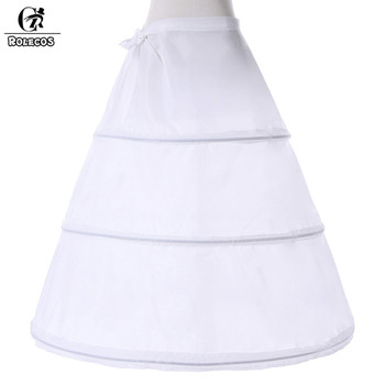 ROLECOS 3 Hoop Ball Gown Petticoat For Wedding Dress White Polyester Accessories Matching Costumes Girls Lolita Petticoat Dress 1