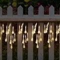 4 8 м Солнечный свет струны воды лампа открытый сад Вечеринка 20 LED капля на солнечных батареях гирлянда сказочные огни