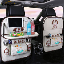 new cartoon car organizer back seat fold Dining rack storage bag Multifunction vehicle box cushion