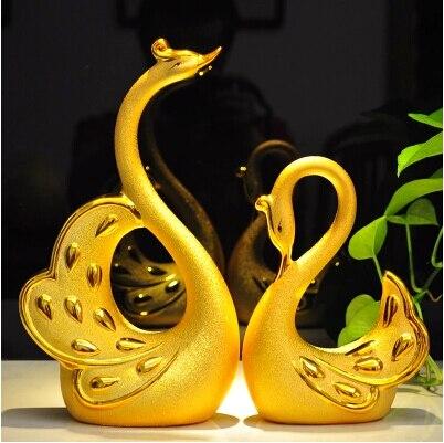 En céramique cygne cadeau de mariage idées salon lieu décoration artisanat décoration nouveau cadeau de mariage