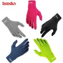 BOODUN, дышащий материал лайкра Нескользящие велосипедные перчатки сенсорный экран Длинные наручные горная дорога велосипедные перчатки с пальцами перчатки для мужчин женщин