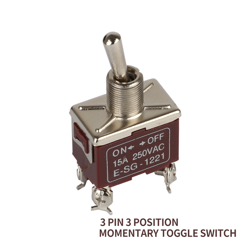toggle switch 15A 250VAC 2 position files 4 screw pin