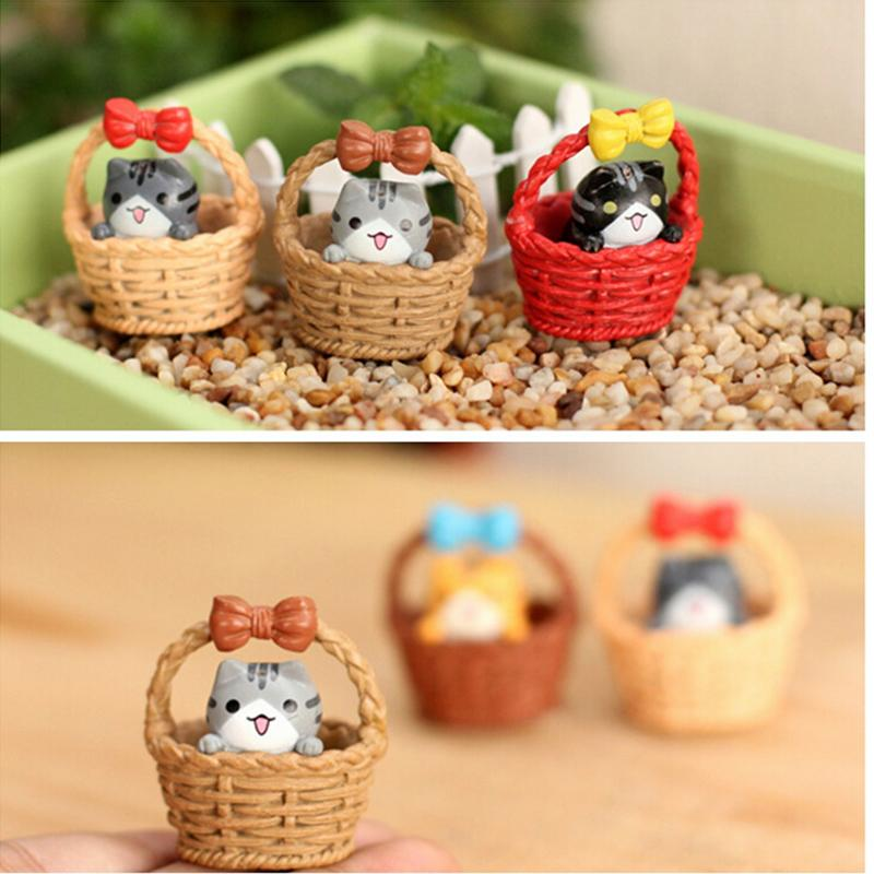 Cute Christmas Gift Mini Cheese Cat Miniature Figurines Toys Cute Lovely Model Kids Toys Japanese Anime Children Figure World image