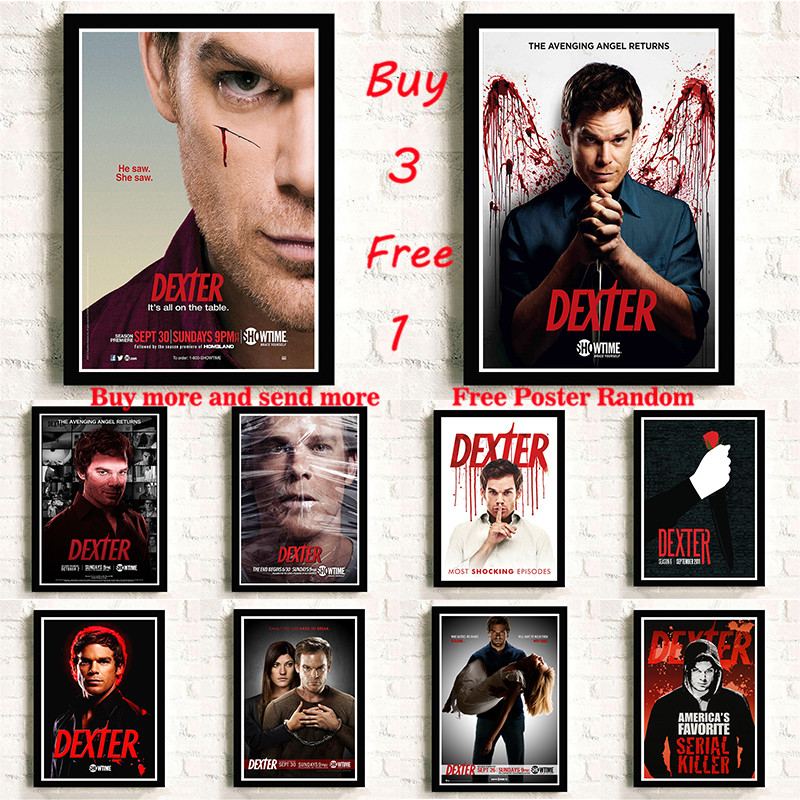 TV Series Dexter Coated Paper Posters Wall Sticker For Home Room Frameless