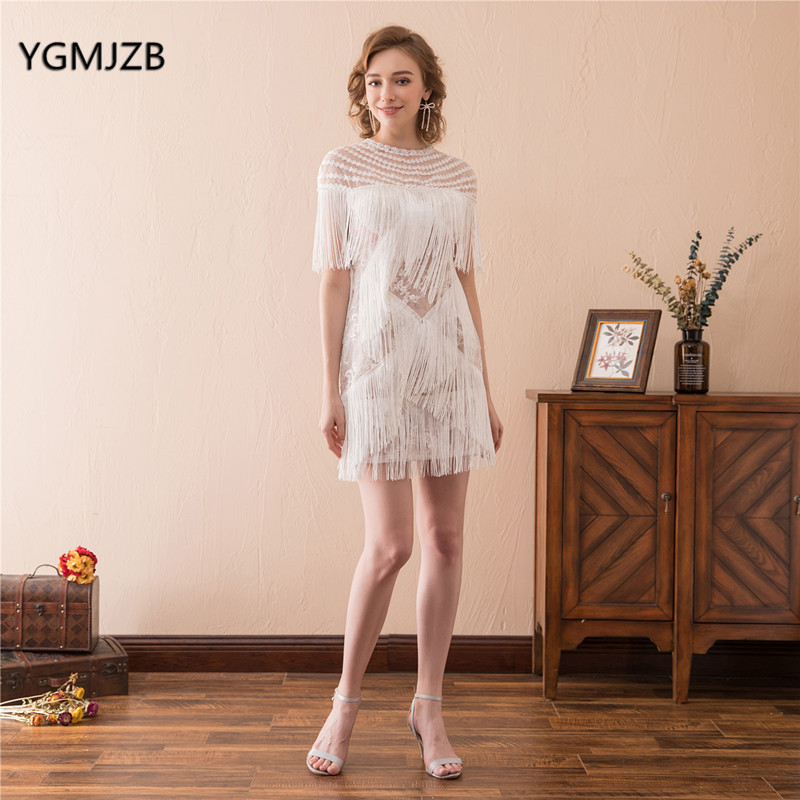 Cheap White Cocktail Dresses 2018: Sexy White Cocktail Dress For Women High Fashion 2018