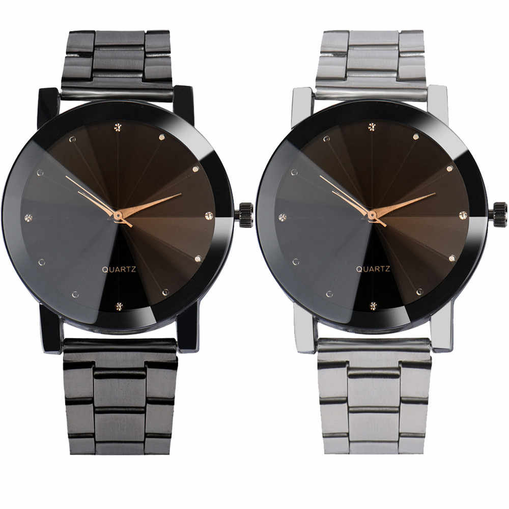 8f0ab20c006 2018 Best Sell Watch Men Fashion Man Women Crystal Stainless Steel Analog Quartz  WristWatch Big Dial
