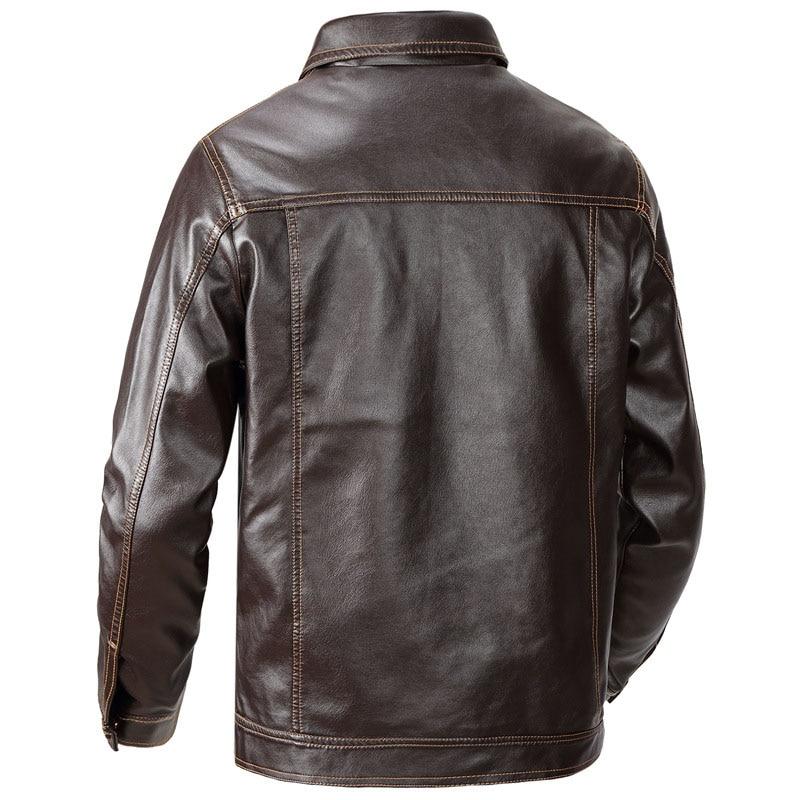Aolamegs hommes veste en cuir de mode poches Biker vestes nouvelle haute qualité lettre broderie décontracté mâle PU cuir manteau Outwear - 2