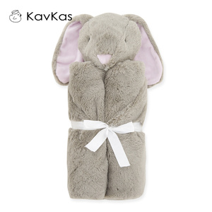 Image 2 - Kavkas Baby Blankets 76x76cm Baby Bedding Winter Birthday Gift Newborn Soft Warm Coral Fleece Plush Animal Educational Plush Toy
