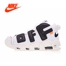 Original New Arrival Authentic Nike Air More Uptempo x Off-White Men's Shoes Sport Sneakers Good Quality