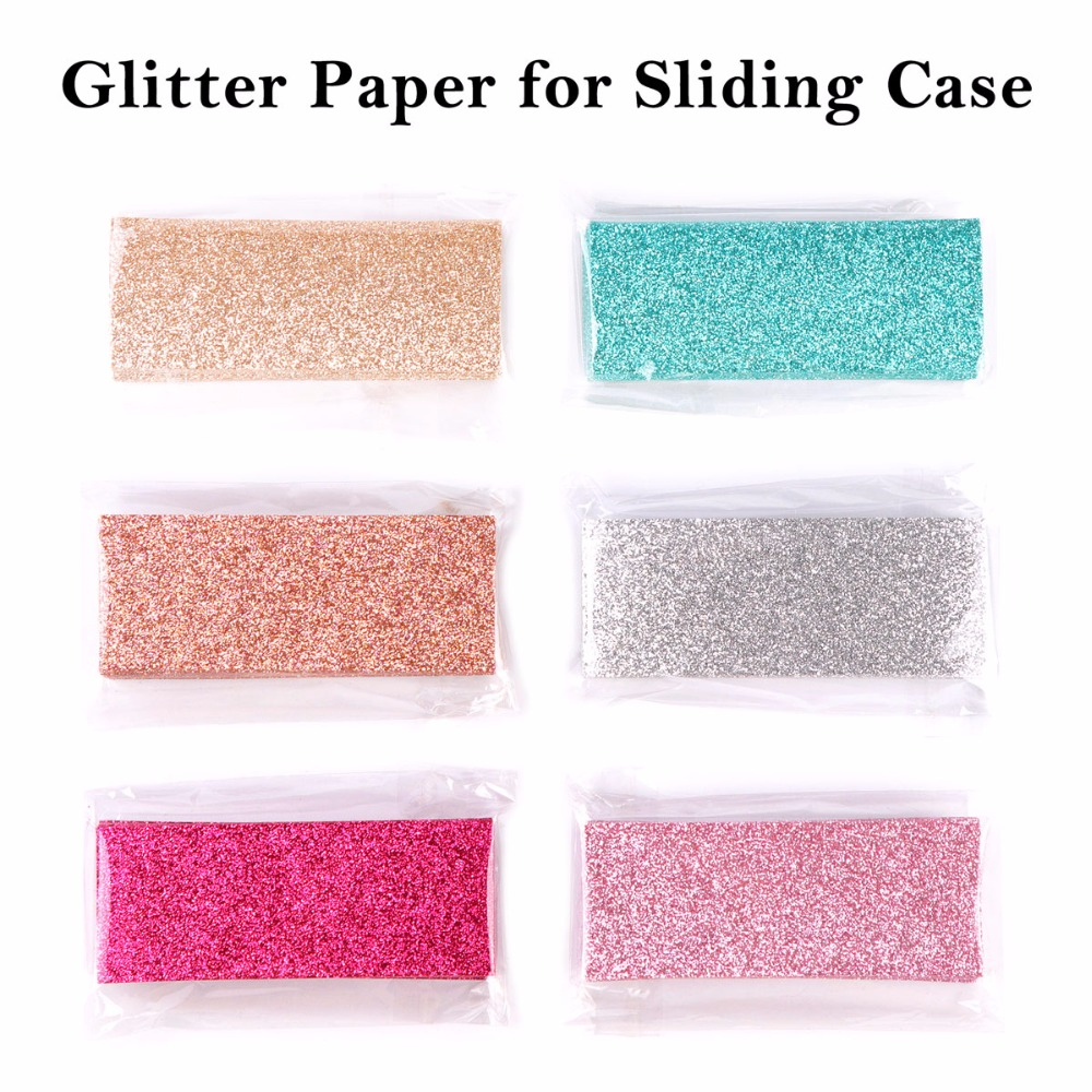 50pcs Glitter Background Paper For Sliding Cases Professional Packaging Accessories For Eyelash Case