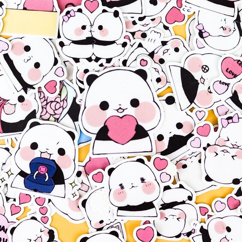 40pcs Creative Cute Self-made Panda Animal DIY Stickers Diary Album Decoration Scrapbooking Child  Stationery Stickers Kawii