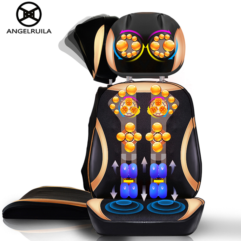 Angelruila Electric Body Massager Vibrate Cervical Malaxation Massage Device Multifunctional Pillow Neck Massage Chair Sofa anti stress electric neck shoulder massage pillows malaxation household clip cervical massage device massageador health tool