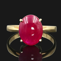 18 k yellow gold ruby ring natural female