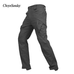 Image 2 - Marke ChoynSunday Tactical Cargo Hosen Männer Kampf Armee Militär Hosen Multi Taschen Stretch Flexible Mann Casual Hosen