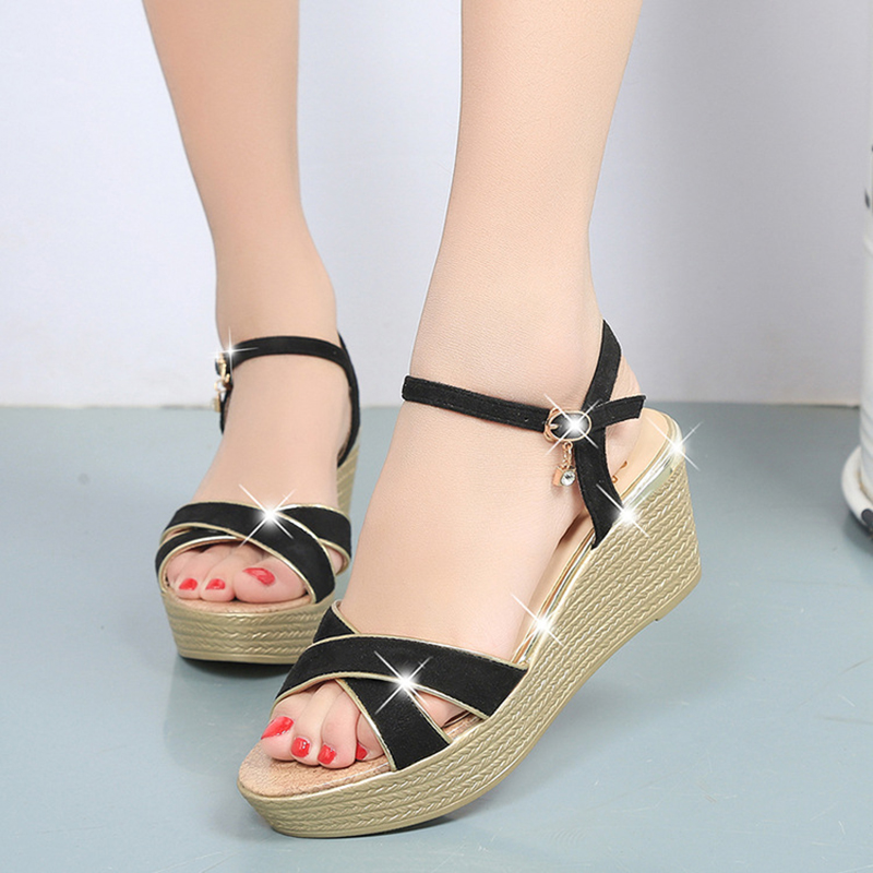 Women Wedges Shoes Women Sandals Causal Open Toe Platform Shoes Woman Gladiator Sandals Women's Summer Footwear 2017 summer shoes woman platform sandals women soft leather casual open toe gladiator wedges trifle mujer women shoes b2792
