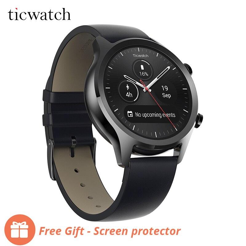 Ticwatch C2 Smartwatch Desgaste Android SISTEMA OPERACIONAL Embutido GPS Monitor De Freqüência Cardíaca de Fitness Rastreador Google Pay 400 mAh 1-1.5 dias 1.3 ''AMOLED