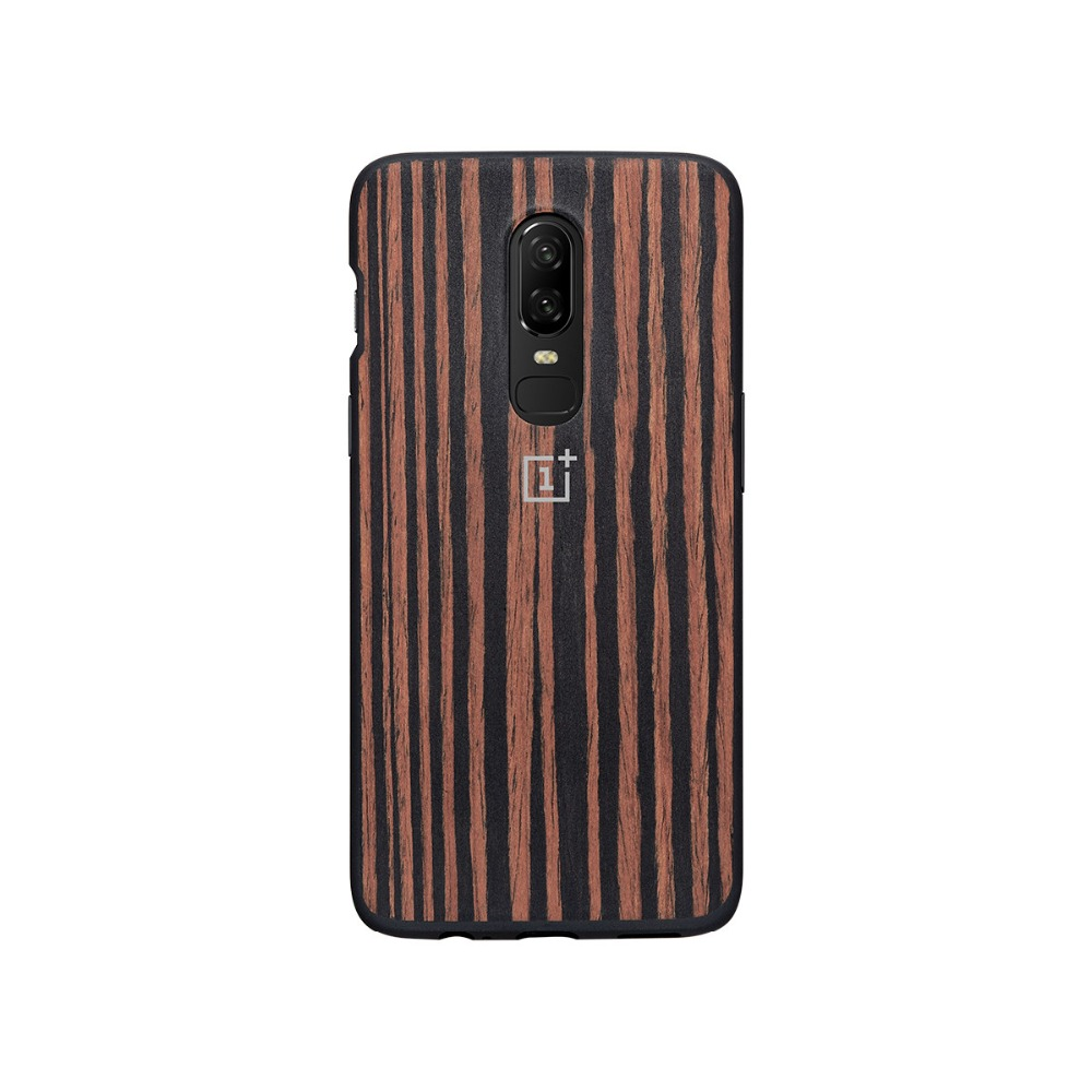 huge selection of 882bf 40607 US $21.99 |OnePlus 6 Bumper Case Original 100% Official back cover case All  round Protection Karbon Ebony Wood shell oneplus 6 coque-in Fitted Cases ...