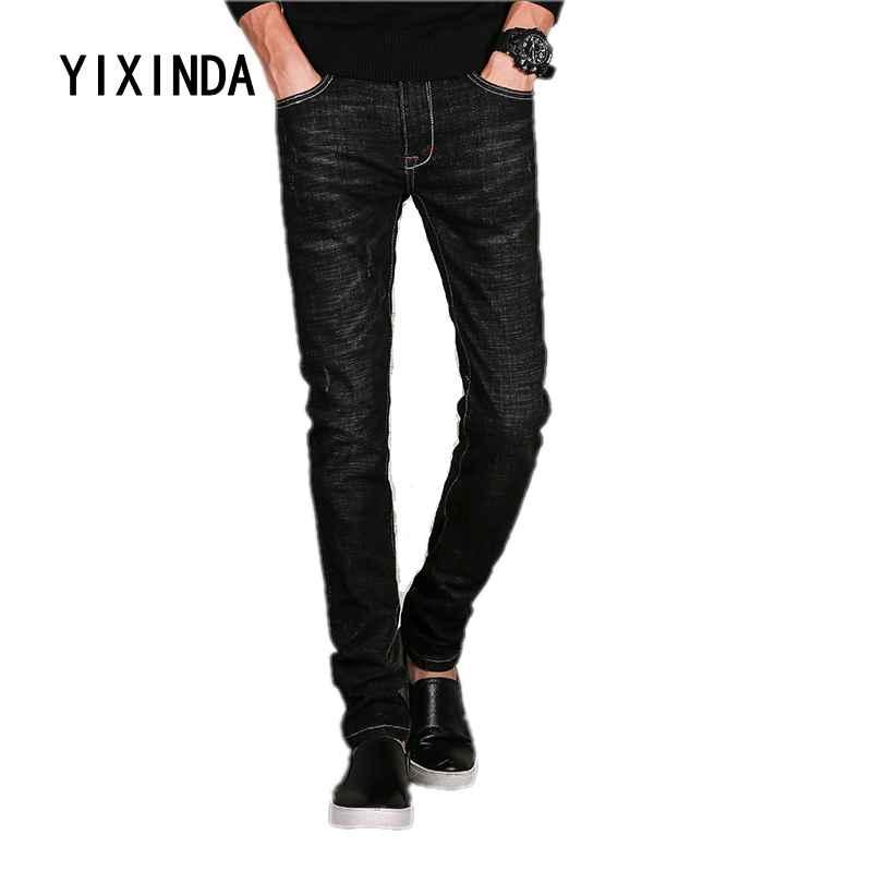 YIXINDA Brand 2018 new mens casual jeans fashion straight tube slim pants short trousers hot sale