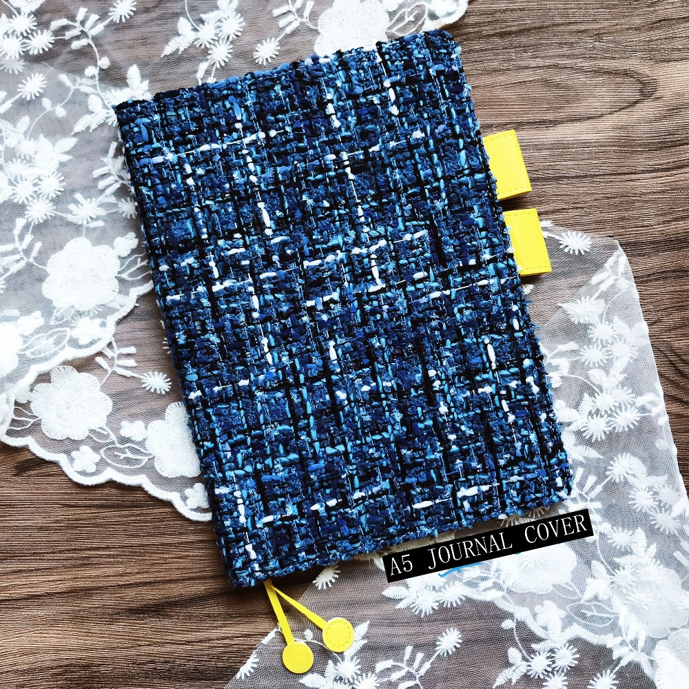 The Blue Journal Cover A5 A6 DIY Agenda Cover Supplies 1 Piece Free Shipping Cool Hobonichi Fashion Softcover Gift the universe mystery stars theme hobonichi fashion journal a5 a6 creative 2018 planner gift cool diary 128 sheets free shipping