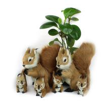 8*7 см мини моделирование белка плюшевые игрушки милый кулон для животного украшения детские игрушки подарок на день рождения