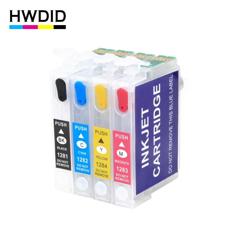 HWDID EMPTY T1281 T1282 T1283 T1284 refill ink cartridge for EPSON stylus S22 SX130 SX125 SX235W SX435W SX425W BX305F BX305FW
