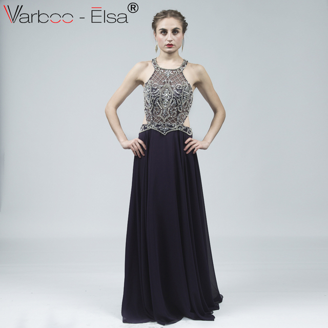 d1e5041b68 VARBOO ELSA Sexy Back Cut-Out Style Formal Gown 2018 Custom Evening Dress  robe de soiree