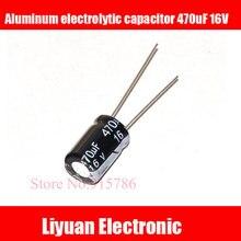 50 шт. Алюминий электролитический конденсатор с алюминиевой крышкой, 470 мкФ 16 V 8*12 мм электролитический конденсатор с алюминиевой крышкой, 16 V/470 мкФ