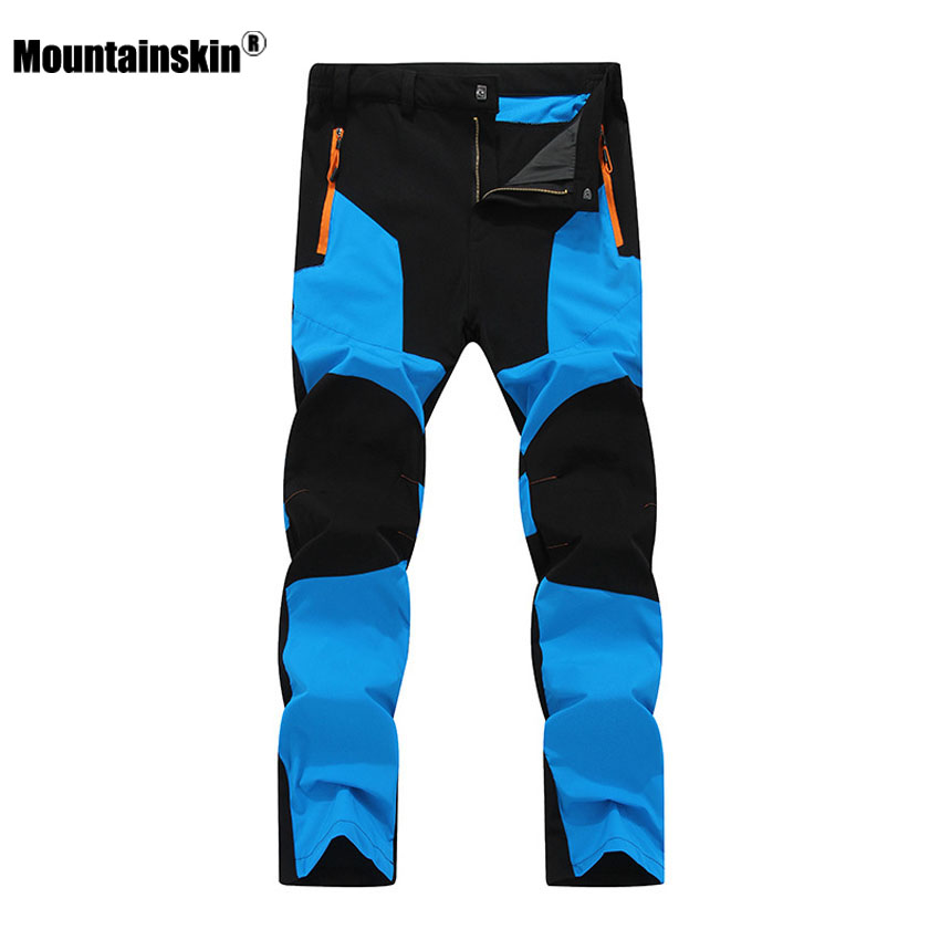 Mountainskin 2018 New Men's Summer Quick Dry Pants Outdoor Elastic Hiking Camping Trekking Fishing Climbing Sport Trousers VA172