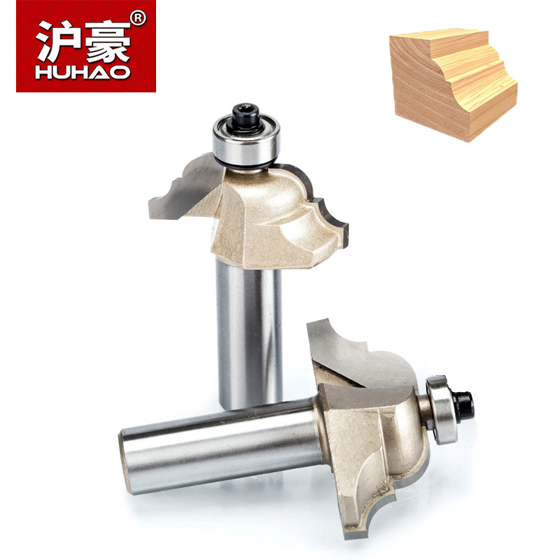 HUHAO 1pc 1/2 Shank Roman Ogee Router Bit Double Edging Router Bits For Wood Woodworking Tools Endmill Classical Bit Cutter high grade carbide alloy 1 2 shank 2 1 4 dia bottom cleaning router bit woodworking milling cutter for mdf wood 55mm mayitr