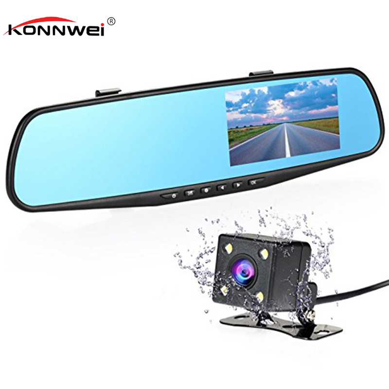 Car Camera Rearview Mirror Auto Dvr Dual Len Dash Cam Recorder Video Registrator Camcorder FHD 1080p