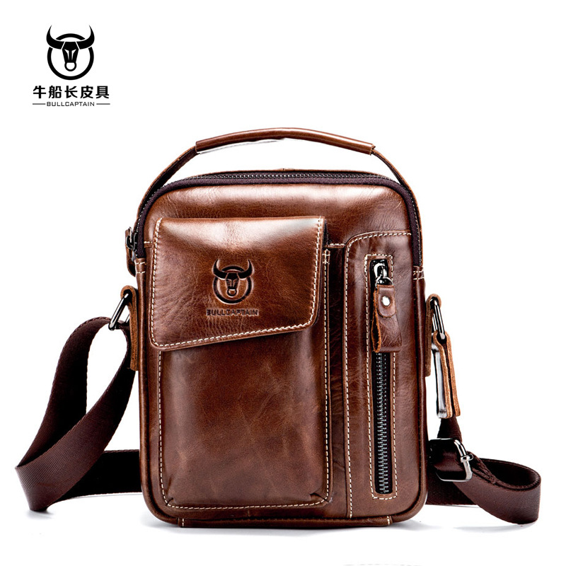 Vintage 100% Genuine Leather Bag Casual First Layer Cow Leather Shoulder Crossbody Bags Small Brand Men Messenger Bags 2016 new fashion men s messenger bags 100% genuine leather shoulder bags famous brand first layer cowhide crossbody bags