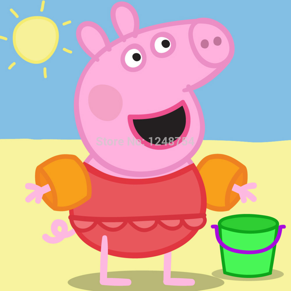 Online shop hot sell peppa pig free shipping 5070cm wall stickers online shop hot sell peppa pig free shipping 5070cm wall stickers wholesale cartoon custom canvas painting wall art aliexpress mobile amipublicfo Images