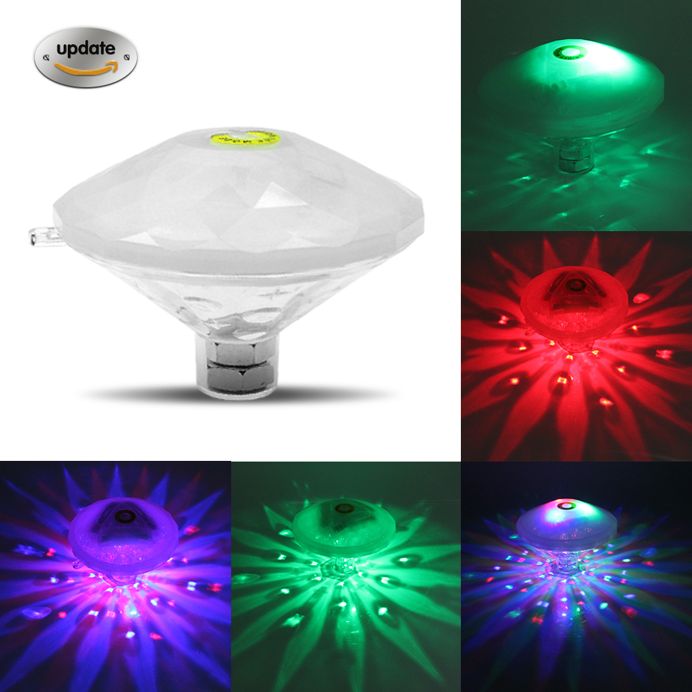 Battery powered led pool light RGB 6leds Multicolor Changeable Waterproof Underwater Light floating lamp for Spa / disco Party led pool balls light diameter 25cm