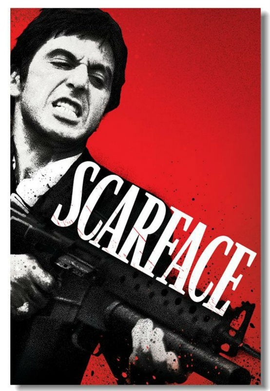 Scarface Al Pacino Movie Poster Home deco wall wallpaper GIFT
