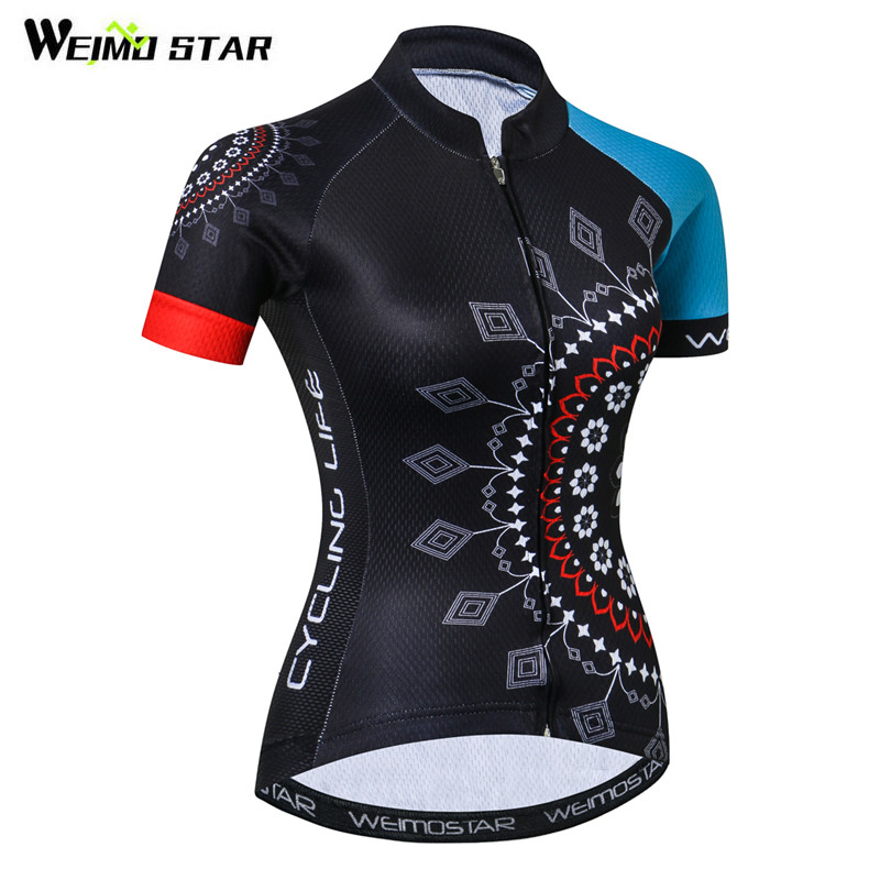 Weimostar 100% Polyester Cycling Jersey Women Pro Team Cycling Clothing  Quick Dry MTB Bike Jersey 113ffb75e