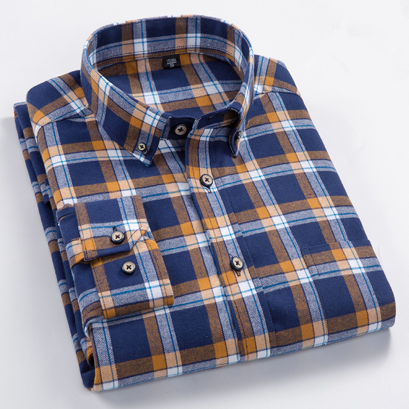 Plus Big Size 8XL 7XL 6XL 5XL 4XL Men 39 s Plaid Shirt Fabric 100 Cotton Korean Slim Fit Comfortable Brand Men Blouse Work Clothes in Casual Shirts from Men 39 s Clothing