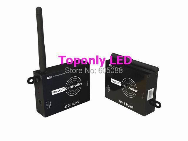 طراحی ثبت اختراع DC5-24v playLED بی سیم wifi کنترل rgb رهبری برای نوارهای تعقیب نوار روبان می تواند با ipone / ipad / ipod کار کند