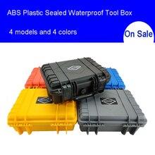 ABS пластиковый герметичный водонепроницаемый ящик для инструментов защитное оборудование чехол для инструментов ударопрочный чехол для инструментов с пенопластом