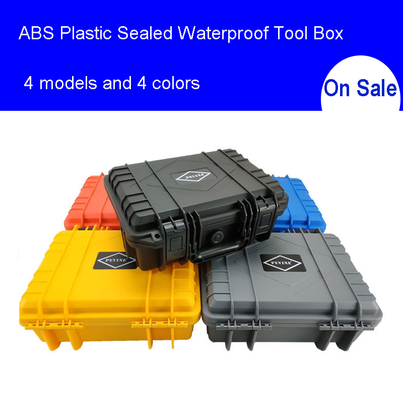 ABS Plastic Sealed Waterproof Tool Box Safety Equipment Toolbox Suitcase Impact Resistant Tool Case Shockproof with FoamABS Plastic Sealed Waterproof Tool Box Safety Equipment Toolbox Suitcase Impact Resistant Tool Case Shockproof with Foam