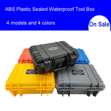 ABS Plastic Sealed Waterproof Tool Box Safety Equipment Toolbox Suitcase Impact Resistant Tool Case Shockproof with Foam ip67 waterproof shockproof black compressive durable toolbox with full cubes foam inserts