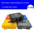 ABS plástico sellado Caja de Herramientas impermeable equipo de seguridad Caja de Herramientas maleta resistente al impacto caja de herramientas a prueba de golpes con espuma
