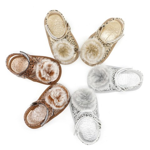 Baby Shoes Newborn Baby shoes First Walkers Shoes Leopard Baby Girl PU Fashion Princess Shoes Lahore