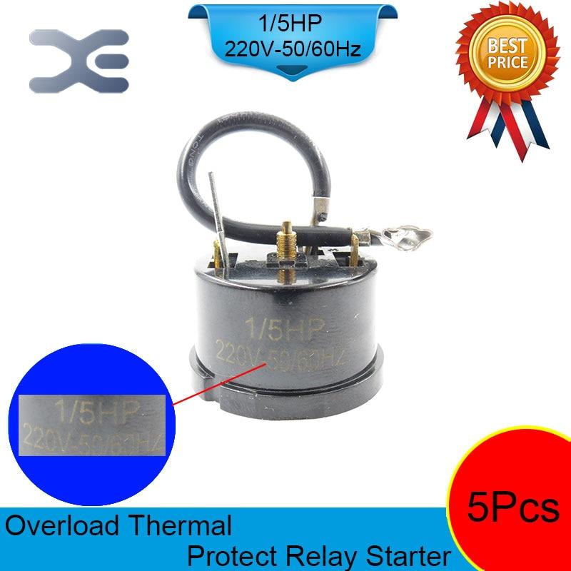 5PCS Refrigerator Compressor 220V 150W 1/5 HP Overload Protector Refrigerator Refrigerator Spare Parts