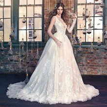 TPSAADE Long Sleeve Ball Gown Wedding Dresses Bridal Gowns