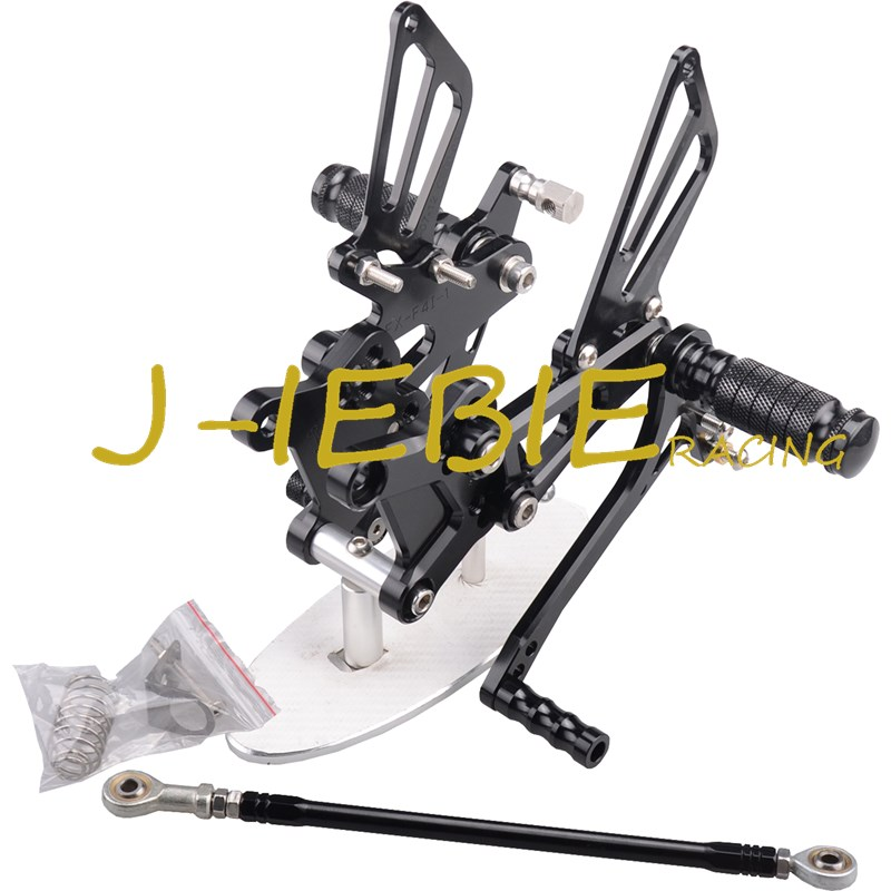 CNC Racing Rearset Adjustable Rear Sets Foot pegs For Honda CBR600 CBR 600 F4 F4I 1999 2000 2001 2002 2003 2004 2005 2006 BLACK цены
