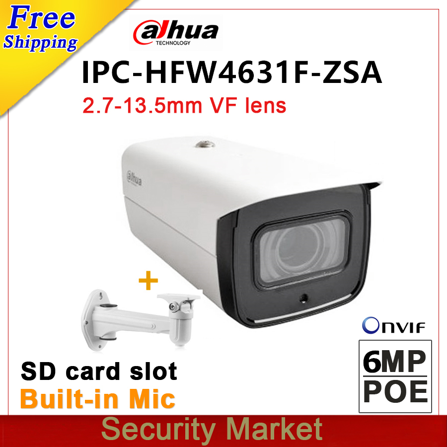Wholesale dahua 6MP IPC HFW4631F ZSA Bullet POE CCTV IPC IR IP CCTV 2 7mm 13