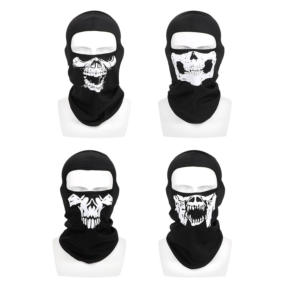 Balaclava Motorcycle Bike Mask Windproof Halloween Ghost Skull Winter Ski Mask Neck Warm Breathable Full Face Mask